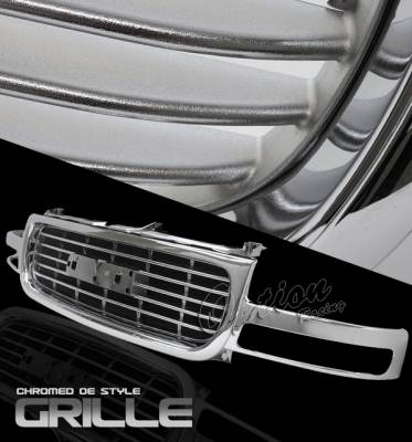 OptionRacing - GMC Sierra Option Racing Chrome Grille - OEM Style - 65-19342