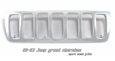 OptionRacing - Jeep Grand Cherokee Option Racing Mesh Sport Grille - 65-26208