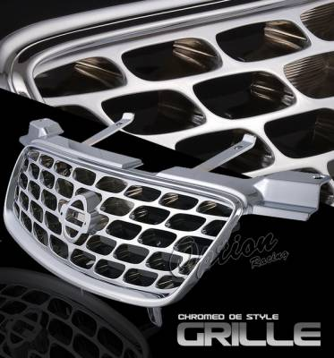 OptionRacing - Nissan Sentra Option Racing Chrome Grille - OEM Style - 65-36333