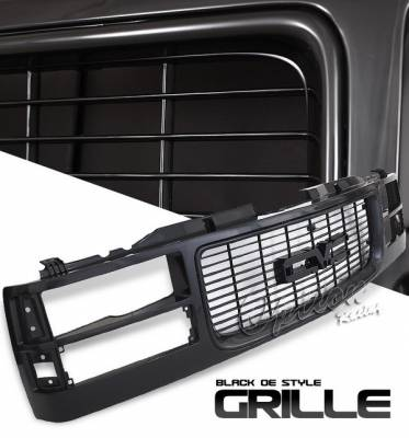 OptionRacing - GMC CK Truck Option Racing Black Grille - OEM Style - 80-15120