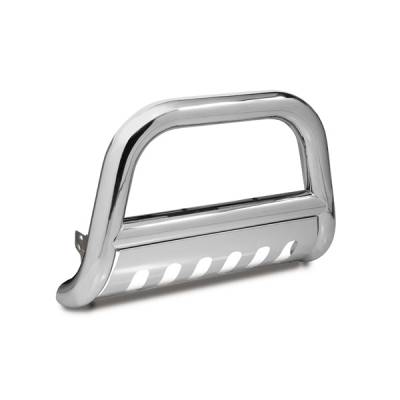 Omix - Outland Bull Bar With Skid Plate - 4 inch - Stainless Steel - 81501-25