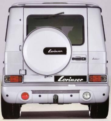 Lorinser - Mercedes-Benz G Class Lorinser Rear Bumper Spoiler with Fog Lights - 488 0464 10