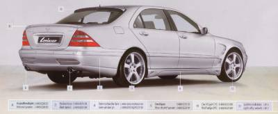 Lorinser - Mercedes-Benz S Class Lorinser Edition Rear Bumper Spoiler - 488 0221 10