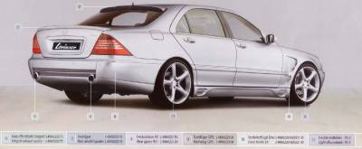 Lorinser - Mercedes-Benz S Class Lorinser F01 Rear Bumper Spoiler - 488 0221 30