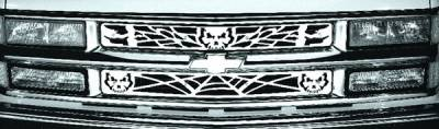 Pilot - GMC CK Truck Pilot Stainless Steel Skull Grille Insert - Set - SG-131