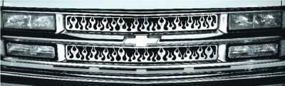 Pilot - Chevrolet Suburban Pilot Stainless Steel Flame Grille Insert - Set - SG-141