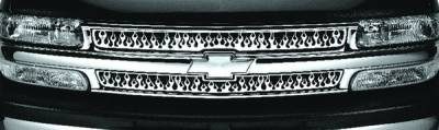 Pilot - Chevrolet Silverado Pilot Stainless Steel Flame Grille Insert - Set - SG-142