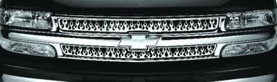 Pilot - Chevrolet Suburban Pilot Stainless Steel Flame Grille Insert - Set - SG-142