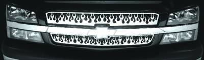 Pilot - Chevrolet Silverado Pilot Stainless Steel Flame Grille Insert - Set - SG-143