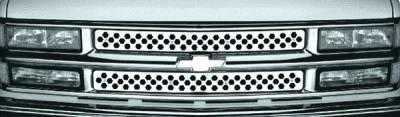 Pilot - Chevrolet Suburban Pilot Stainless Steel Punch Grille Insert - Set - SG-161