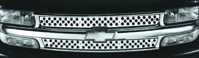 Pilot - Chevrolet Silverado Pilot Stainless Steel Flame Grille Insert - Set - SG-162