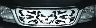 Pilot - Ford F250 Pilot Stainless Steel Skull Grille Insert - 1PC - SG-231