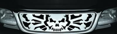 Pilot - Ford F250 Pilot Stainless Steel Skull Honeycomb Grille Insert - 1PC - SG-232