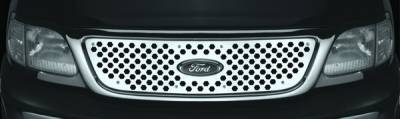 Pilot - Ford F250 Pilot Stainless Steel Punch Grille Insert - 1PC - SG-261