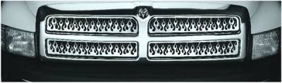 Pilot - Dodge Ram Pilot Stainless Steel Flame Grille Insert - Set - SG-341