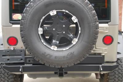 Hyline Offroad - Jeep Wrangler Hyline Tire Carrier Ready Rear Bumper Assembly - TJ-YJ-20SRBT