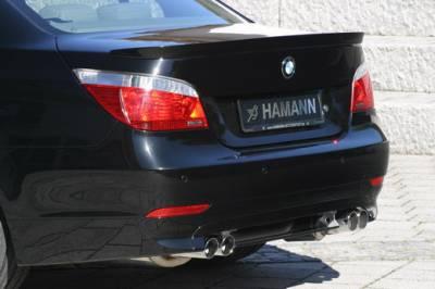 Hamann - Rear Apron Add On w/ Diffuser for Twin-Dual Cut Out Sedan