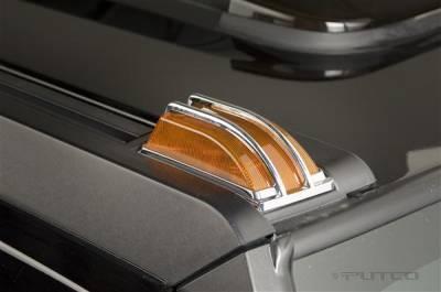 Putco - Hummer H2 Putco Chrome Trim Roof Light Covers - 405236