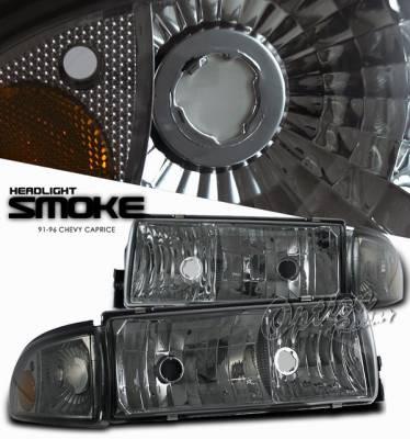OptionRacing - Chevrolet Caprice Option Racing Headlight - 10-15248