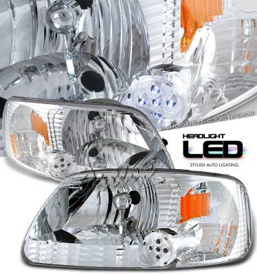 OptionRacing - Ford F150 Option Racing Headlight - 10-18165