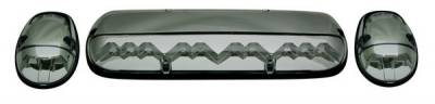 In Pro Carwear - GMC Sierra IPCW LED Cab Roof Lights with Chrome Base - 3PC - LEDR-302S