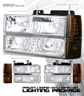 OptionRacing - GMC CK Truck Option Racing Headlight - 10-19185