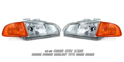 OptionRacing - Honda Civic Option Racing Headlight - 10-20195