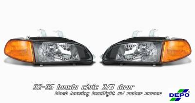 OptionRacing - Honda Civic Option Racing Headlight - 10-20199