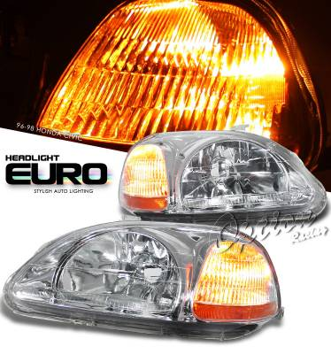 OptionRacing - Honda Civic Option Racing Headlight - 10-20202