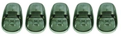 In Pro Carwear - Dodge Ram IPCW LED Cab Roof Lights with Chrome Base - 5PC - LEDR-402S