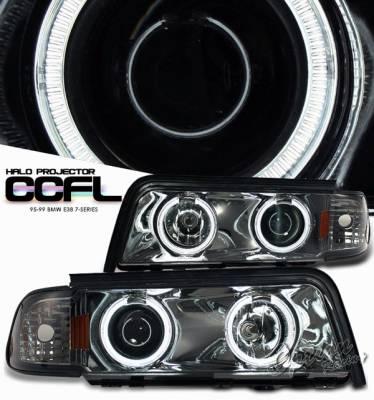 OptionRacing - BMW 7 Series Option Racing Projector Headlight - 11-12314