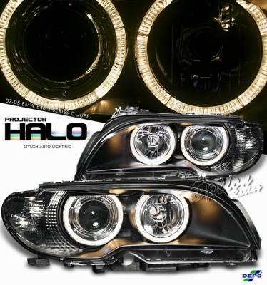 OptionRacing - BMW 3 Series Option Racing Projector Headlight - 11-12316