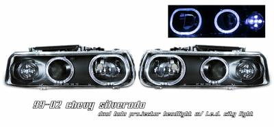 OptionRacing - Chevrolet Silverado Option Racing Projector Headlight - 11-15135