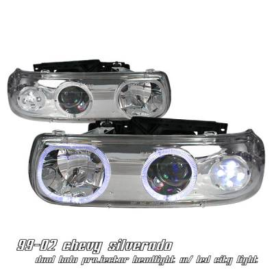 OptionRacing - Chevrolet Silverado Option Racing Projector Headlight - 11-15136