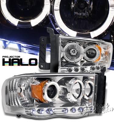 OptionRacing - Dodge Ram Option Racing Projector Headlight - 11-17291