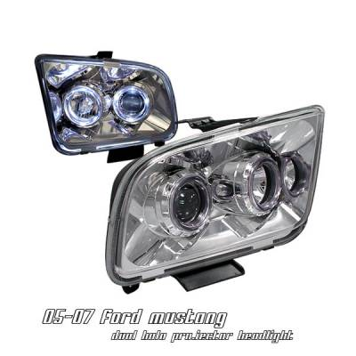 OptionRacing - Ford Mustang Option Racing Projector Headlight - 11-18159