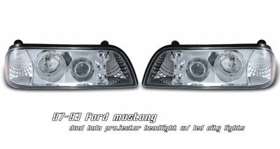 OptionRacing - Ford Mustang Option Racing Projector Headlight - 11-18164