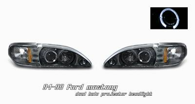 OptionRacing - Ford Mustang Option Racing Projector Headlight - 11-18168