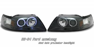 OptionRacing - Ford Mustang Option Racing Projector Headlight - 11-18173