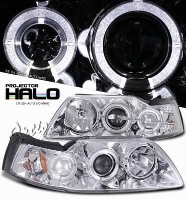 OptionRacing - Ford Mustang Option Racing Projector Headlight - 11-18294