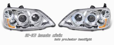 OptionRacing - Honda Civic Option Racing Projector Headlight - 11-20188