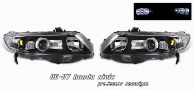 OptionRacing - Honda Civic Option Racing Projector Headlight - 11-20189