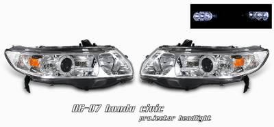 OptionRacing - Honda Civic Option Racing Projector Headlight - 11-20190