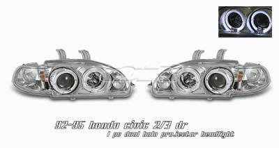 OptionRacing - Honda Civic Option Racing Projector Headlight - 11-20192
