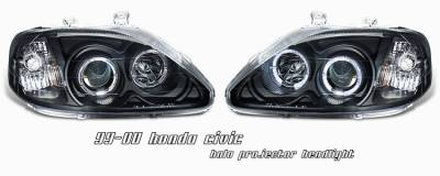 OptionRacing - Honda Civic Option Racing Projector Headlight - 11-20197