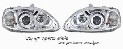 OptionRacing - Honda Civic Option Racing Projector Headlight - 11-20198