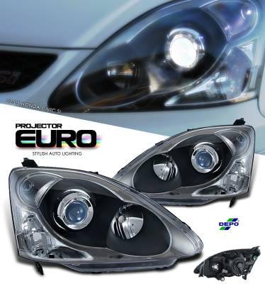 OptionRacing - Honda Civic Option Racing Projector Headlight - 11-20199