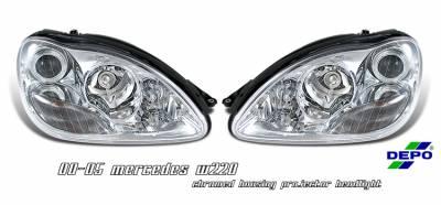 OptionRacing - Mercedes-Benz S Class Option Racing Projector Headlight - 11-32234