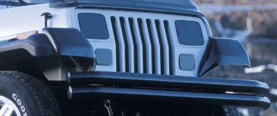 Omix - Rugged Ridge Headlight Turn Signal Light Cover - Smoked Acrylic - 11353-02