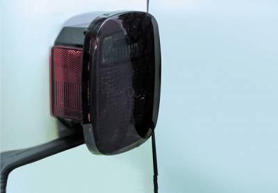 Omix - Rugged Ridge Tail Light Black Out - Smoke - 11354-01
